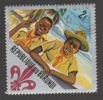 Stamps : Africa : Burundi :  Boy scouts riendo