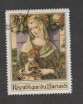 Stamps : Africa : Burundi :  Virgen con Niño