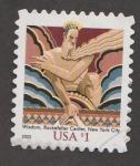 Stamps : America : United_States :  Estatua de la sabiduría,Rockefeller Centre