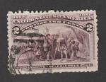 Stamps United States -  Dedembarco de Cristobal colón en el Nuevo Mundo