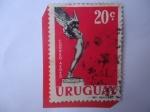 de America - Uruguay -  Monumento Diosa Alada y Avión - Serie:Capitan Boiso Lanza (Aviador Uruguayo-1887-1918)