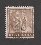 Stamps India -  Dos figuritas humanas