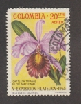 Stamps Colombia -  Flor Cattleya trianae