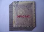 Stamps Paraguay -  Emblema Nacional - U.P.U. - Sobreimpreso
