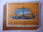 de Europa - San Marino -  Buque Mercante Egipcio, 2000 años a.C - Naves Históricas - Serie:Historia Naval.