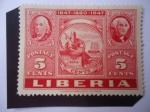 de Africa - Liberia -  CIPEX, New York - Exposición de Sellos - 5 Sellos dentro de otro Sello - 1847-1860-1947