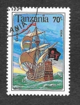 Stamps : Africa : Tanzania :  1211 - Nave