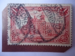 Sellos de Europa - Alemania -  Alemania Reino - Reichs Postamt in Berlin - Oficina de Correos-Edif. Representativo del Imp.Alemán.