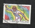 Stamps : Europe : Finland :  1127 - Olimpiadas de invierno en Albertville