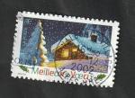 Stamps : Europe : France :   - Chalet cubierto por la nieve