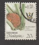Sellos de Asia - Malasia -  Planta Elaeis guineensis