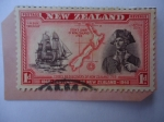Stamps New Zealand -  Capitán Cook- Re-descubrimiento de Nueva Zelanda. 1759 - Centenario de Nueva Zelanda,1840-1940 - Bar