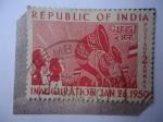 Sellos del Mundo : Asia : India : Inauguración de la República de la India-Junio 26 de 1950