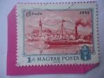 Sellos del Mundo : Europa : Hungría : Vista de la Ciudad Histórica de Óbuda -1872 - Centenario de Budapest,1872-1972.
