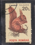 Stamps : Europe : Romania :  ARDILLA