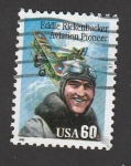 Sellos de America - Estados Unidos -  Eddie Rickenbsker, pionero de la aviación