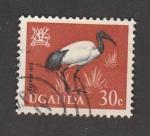 Stamps Uganda -  Ibis sagrado