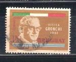 Stamps : America : Uruguay :  RESERVADO JOAQUIN visita gronchi