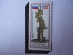 Stamps Russia -  Escultura de Zurab Konstantinovich Tsereteli-Georgiano-Ruso -500 Aniversario Descubrimiento de Améri