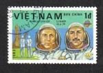 Stamps Asia - Vietnam -  Cosmonautas, Nikolai Rukavishnikov and Georgi Ivanov