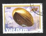 Stamps Asia - Vietnam -  Exposición filatélica internacional Helvetia'90 (Zepelines)
