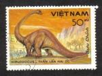 Stamps Asia - Vietnam -  Fauna Prehistórica, Diplodocus