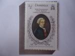 Stamps : America : Dominica :  Franz Joseph Haydn (1732-1809) Austriaco, musico y compositor- 150 Aniversario de Muerte de Ludwig V