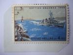 Stamps : Europe : Greece :  Grecia y el Mar - Buques de Guerra Modernos