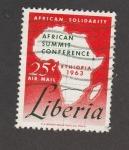 Stamps Africa - Liberia -  Cumbre africana en Ethiopia