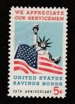 Sellos de America - Estados Unidos -  25 Aniv.  Bonos de ahorro US