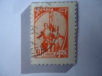 Stamps : Europe : Russia :  Monumento al Obrero y Mujer Kolkhoz - Escultura: Vera Mujina.