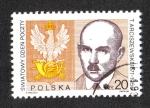 Sellos de Europa - Polonia -  Día Mundial del Correo, Tomasz Arciszewski (1877-1955) Director de Correos, Post crest