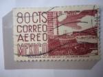 Stamps : America : Mexico :  CU- Arquitectura Moderna- Nuevo Centro Deportivo en la Universidad-Ciudad de México D.F