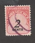 Sellos de Europa - Estados Unidos -  Debito de correo