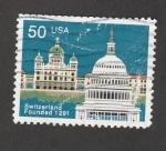 Stamps United States -  Fundación de Suiza en 1291