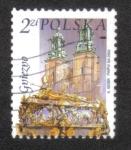 Sellos de Europa - Polonia -  Monumentos de la ciudad polaca, Catedral, ataúd de San Adalberto, Gniezno