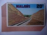 Stamps : Africa : Malawi :  Salima -Lilongwe -Railway Line. - Inauguración del Ferrocarril de Salima Lilongne - Paso del Ferroc