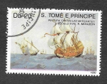 Sellos de Africa - Santo Tomé y Principe -  895 - 500º Aniversario del Descubrimiento de América