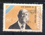 Stamps : America : Uruguay :  RESERVADO luis alberto de herrera
