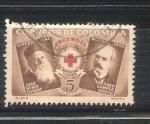 Stamps : America : Colombia :  RESERVADO Cruz Roja