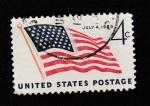 Sellos de America - Estados Unidos -  Bandera estadouniense