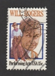 Stamps America - United States -  Will Rogers, actor