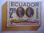 Stamps : America : Ecuador :  Visita del Presidente de Chile - José M. Velasco  Ibarra (Ecuador)- Salvador Allende (Chile)-Quito