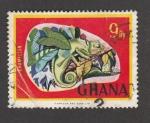 Stamps Ghana -  Camaleón