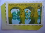 Stamps : Oceania : Australia :  Puente de Richmond - Serie:Escenas.