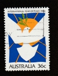 Stamps Australia -  Año internacional de la Paz