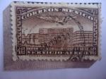 Stamps : America : Mexico :  Teotihuacan-Mexico - Quetzalcoatl - Templo Azteca