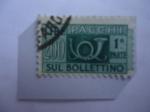 Stamps : Europe : Italy :  Pacchi Postali -Serie:Trieste-Zona A-1a Parte- Cornetas de Correos.