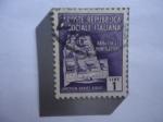 Stamps : Europe : Italy :  Abbadia Di Montecassino- Abadía de Monte Casino - República Social Italiana.