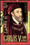 Stamps Europe - Spain -  3697 - V centenario del nacimiento de Carlos V